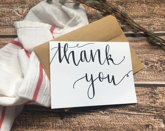 Thank you card - Handmade Greeting Card