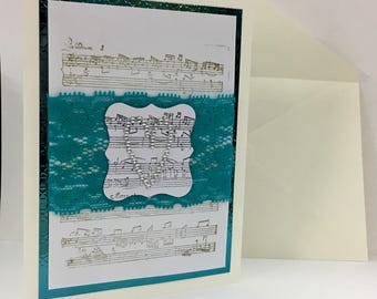 Music and Lace - Teal