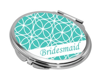 Compact Mirror, Personalized Compact Mirrors, Bachelorette Gifts, Monogrammed Compact Mirror, Personalized Bridesmaid Gift, Monogram Gift