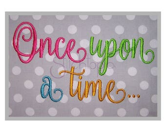 """Once Upon a Time Embroidery Font #1 - 1"""" 1.5"""" 2"""" 2.5"""" 3"""" - Machine Embroidery Fonts BX Fonts Script Embroidery Fonts - Instant Download"""
