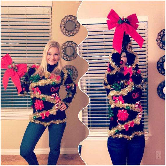 Christmas Tree Sweater Womens: Ugly Christmas Tree Sweater 3D Christmas Sweater Womens