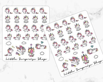 Kawaii Unicorn Stickers//KA010