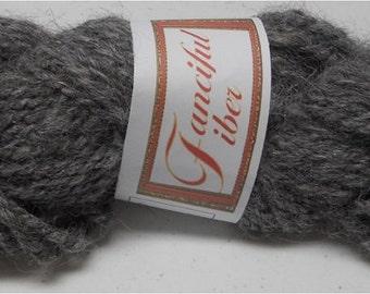 Handspun 100%  Llama Yarn 2 Ply  Steel Gray (D)