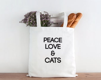 Peace love & Cats, Cat lover, cat person, cat gift, animal lover, Christmas gift, Christmas present