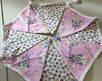 Pink Unicorn Castle Bunting