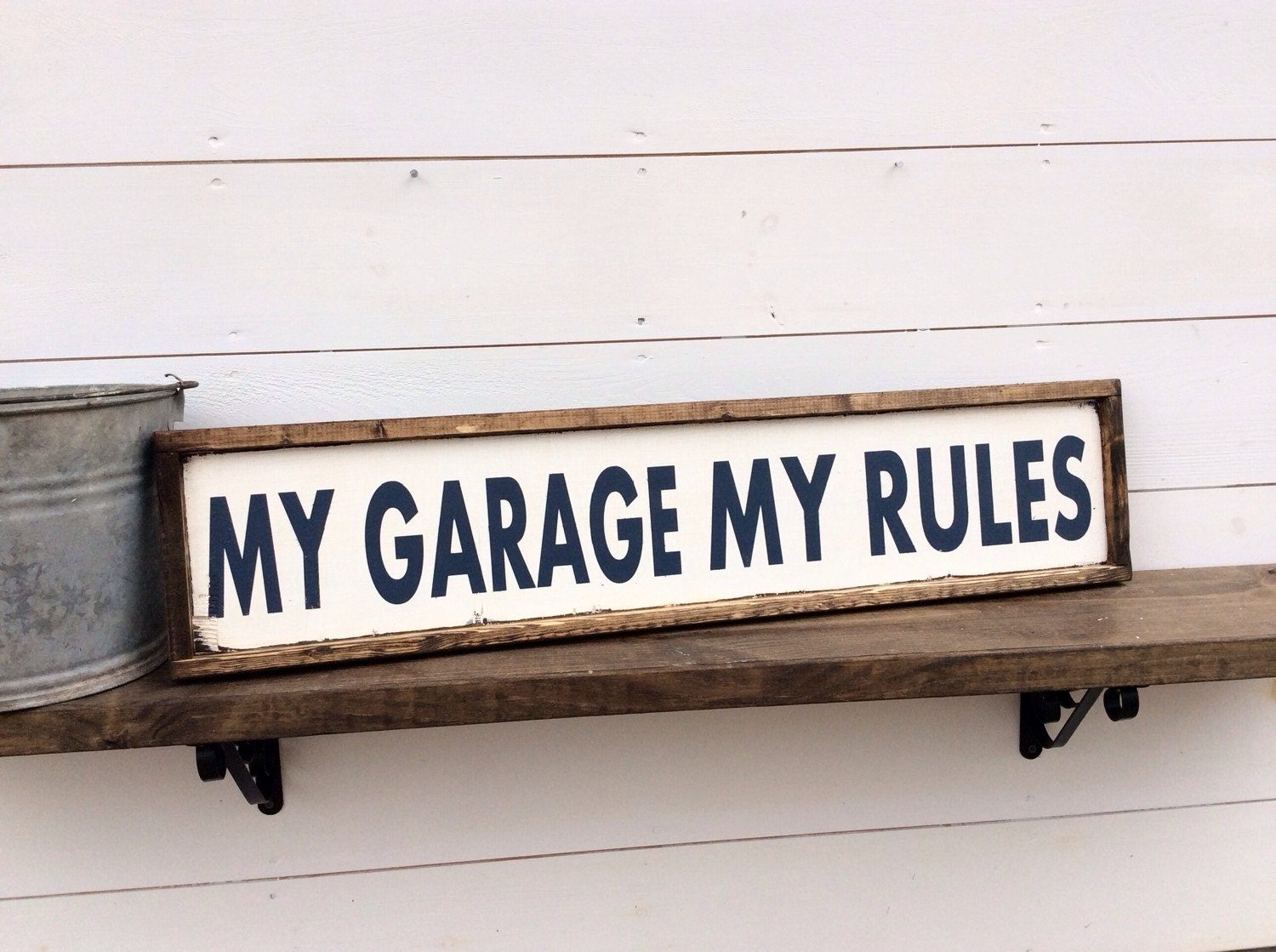 Man Cave Garage Signs : My garage rules sign man cave custom