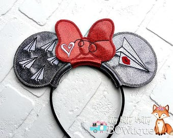 Paper airplane inspired Mouse Ears