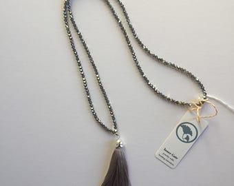Brilliant sparkley swarovski tassel necklace