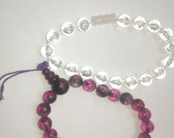 2 Plastic Beaded Bracelets