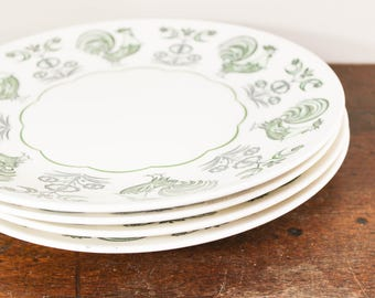 Taylorstone Dinner Dishes, Smith and Taylor in a 'Summer Morn' Pattern- Set of 4