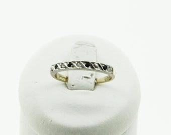 A 9ct Gold Sapphire And Diamond Half Eternity Ring   SKU997