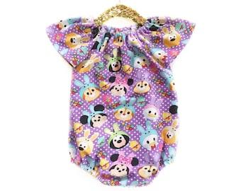 6-12 month, Easter Romper - Sundress - Baby Romper - Baby Sunsuit - Toddler Romper - Toddler Sunsuit - Baby Girl Dress