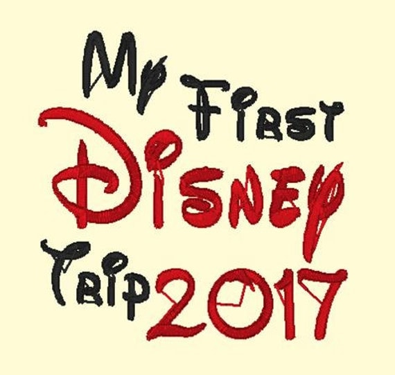 My First Disney Trip 2017 DOWNLOAD DIGITAL Design 4x4 and 5x7
