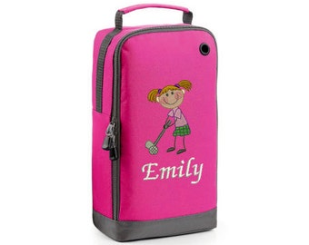 Personalised Embroidered Golf Shoe Bag - Golf Bag - Golf -Girls Shoe Bag –Golf Shoe Bag– Golf Shoe Bag - Girls Golf Shoe Bag