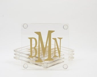 Personalized Monogramed Coasters