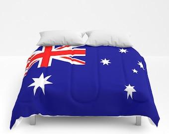 Australia Flag Comforter Australia Flag Duvet Australian Flag Comforter Aussie  Comforter Aussie Duvet