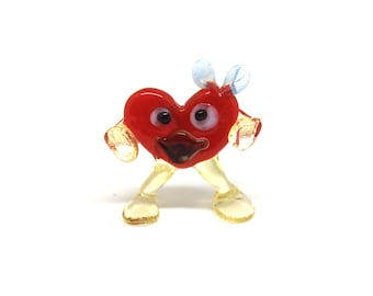 Glass Heart sculpture,Love Art, Valentine's Day Heart sculpture, Blown Glass Heart Art, Heart Decor,Valentine's Day, valentine gifts