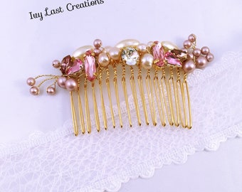 Comb wedding Camilia head /Bijou / gift witnesses / bridesmaids