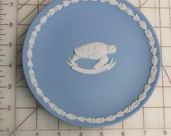 Cayman Islands Turtle Wedgwood Jasperware Plate