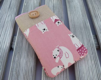 iPhone 7 sleeve, Bear, iPhone SE pouch, iPhone 5 case, iPhone 6s Plus case,  iPhone 7 Plus case, iPod, iPhone 7 Pouch, Padded, iphone cover