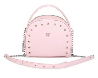 Leather Cross body Bag, Pink Leather Shoulder Bag, Women's Leather Crossbody Bag, Leather bag KF-994
