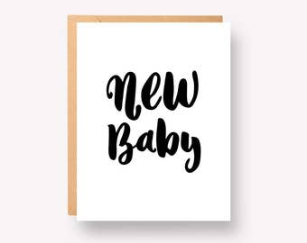 """New baby - Greeting Card 4.25"""" x 5.5"""""""