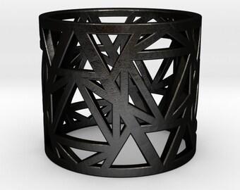 Black Steel Zero Point Ring
