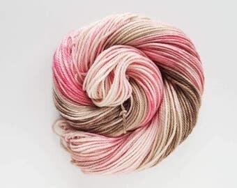 Dirty Rose, handpainted indie yarn