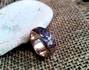 Textured Bronze Ring. 4mm, 8mm, 10mm Wide.