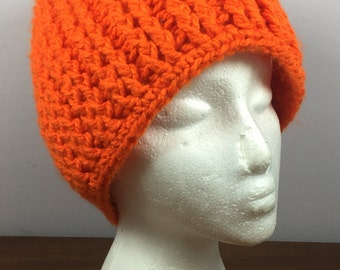 Handmade Orange Crochet Hat