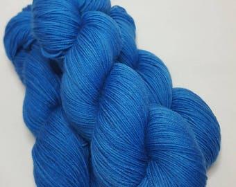 Hand dyed Merino / Nylon yarn, Sock weight, 4-ply, 100g, ROYALE, blue, sock yarn
