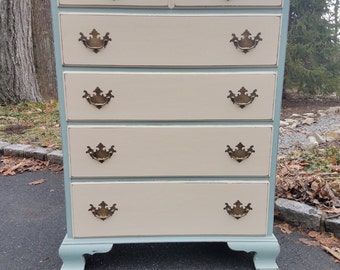 Hand Painted Antique Shabby Chic Dresser - LOCAL PICKUP/DELIVERY Only