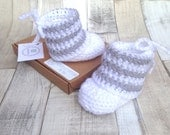 Unisex booties Gender neutral Crochet shoes New baby 03 36 months crochet booties infant shoes