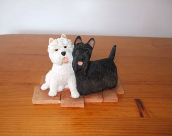 Sherratt & Simpson Scottish Terrier with West Highland Terrier (Scottie and Westie) figurine - 55144