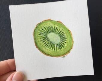 ORIGINAL • Kiwi Fruit Original Watercolor Paintinf