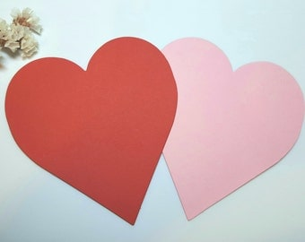 Large hearts die cuts 4in, wedding hearts,Gold heart die cuts, Large Red heart die cuts Large pink heart die cuts Ice Mint hearts die cuts