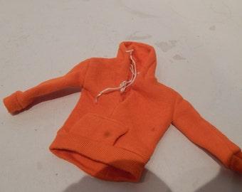 Vintage Ken Fashion Orange Hooded Sweatshirt Mattel 1963