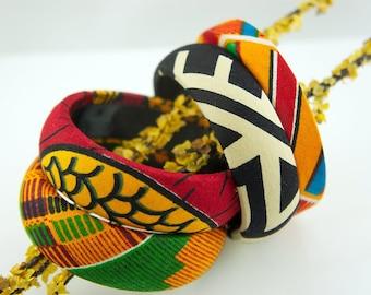 Be Bold – Ankara Bangle Set - African Print Bangle - Bracelet