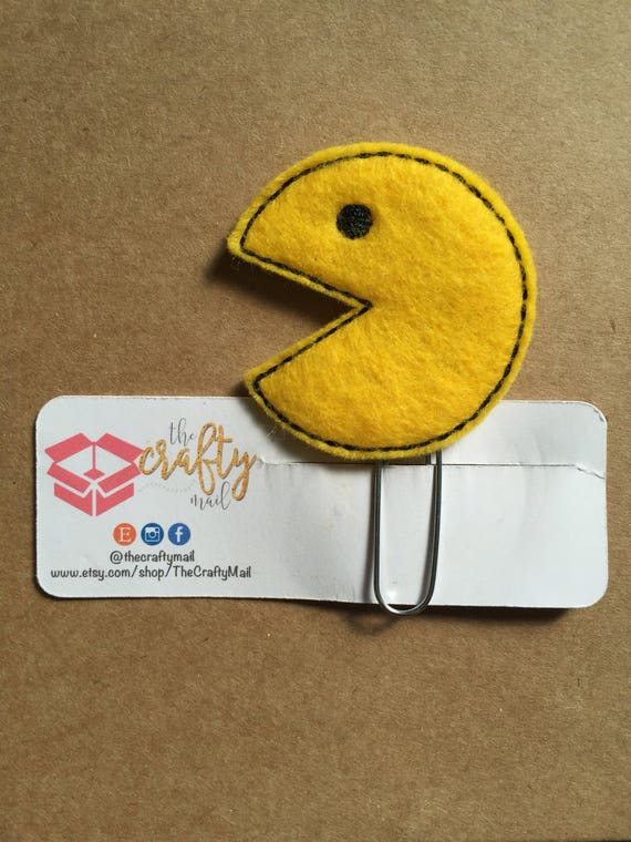 Pacman Planner Clip/Bookmark.