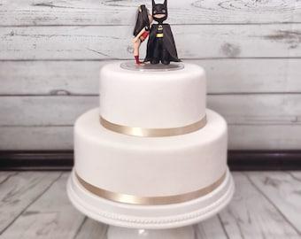 Wonder Woman and Batman Cake Topper. Wedding Cake Topper. Wonder Woman & Batman.