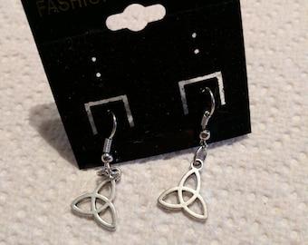 Handmade earrings Celtic knot with hook fastening