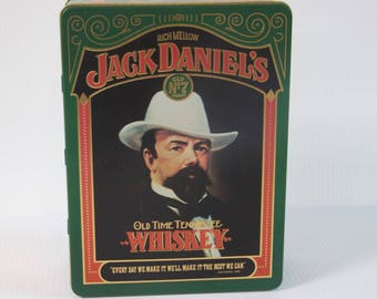Vintage Jack Daniel's collectable Old No 7 Brand Old Time Tennessee Whiskey Tin Box