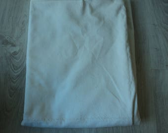 Bargain - French vintage metis linen bed sheet  with two seams (04724)