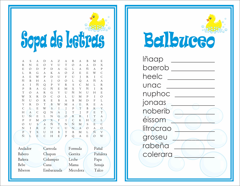 Balbuceo Para Baby Shower