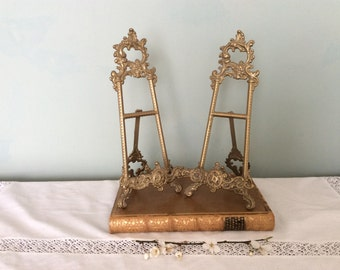 Vintage French Rococo style Brass Picture Frame/Picture Easel.
