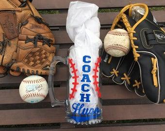 Coaches gift soccer Personalized Custom beer mug little league coach Team mom gift baseball coach end of the season gift coach gift idea