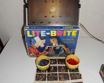 Vintage 1967 Lite Brite 5455 With Pegs WORKS!