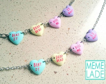 Love Hearts - Necklace and bracelet