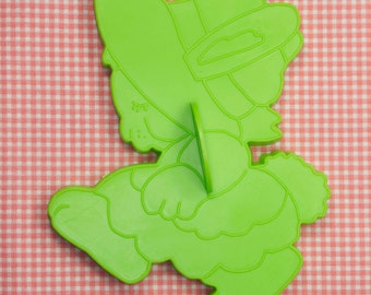 1978 Large Wilton Green Miss Bunny Easter Cookie Cutter Hong Kong