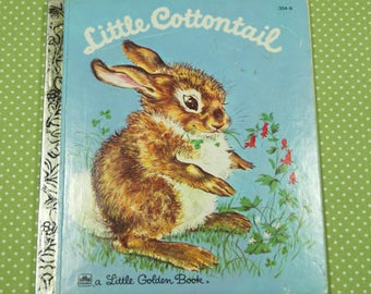 1980's Little Golden Book Little Cottontail
